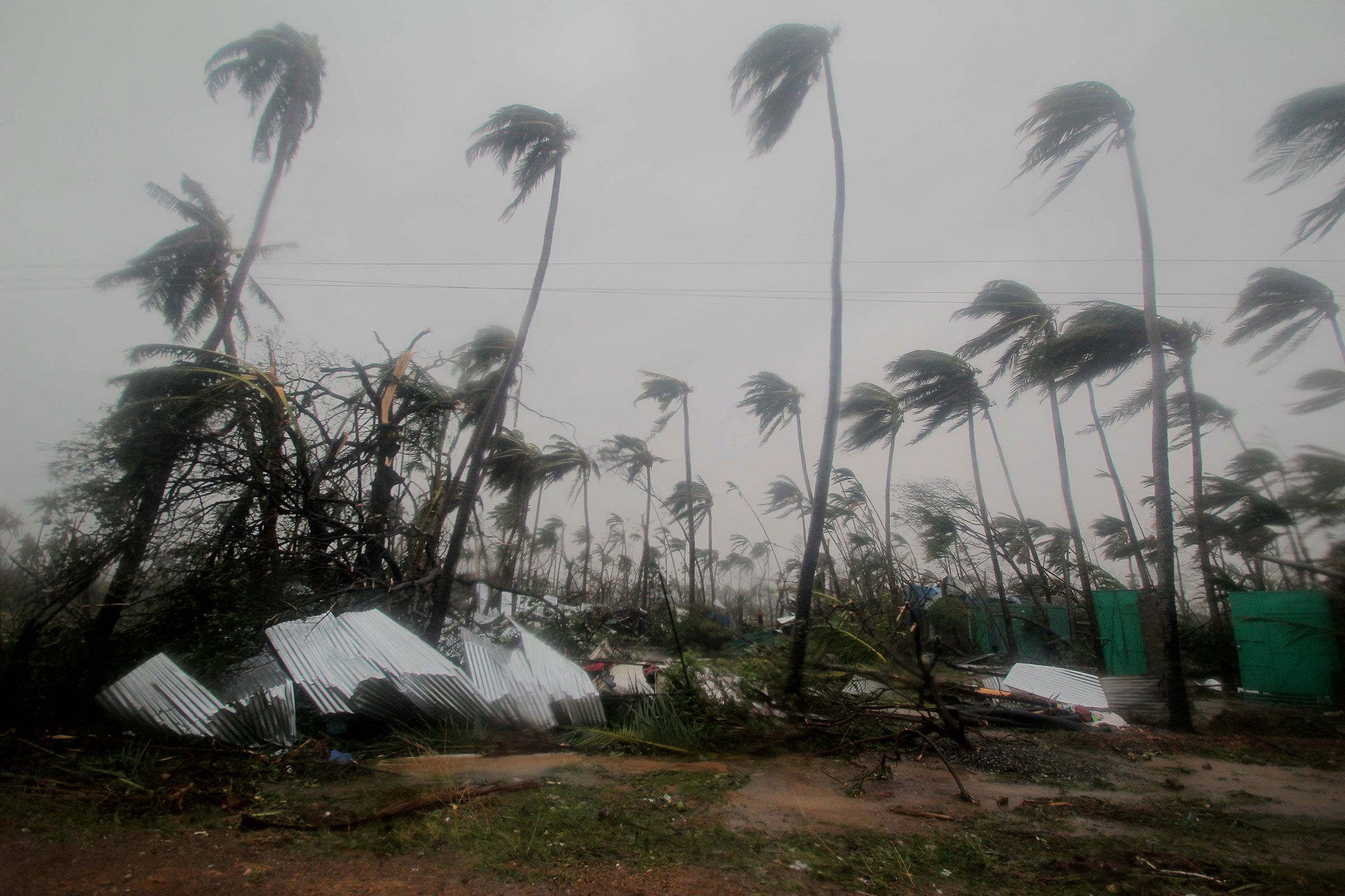 Damage on the country's east coast after the Cyclone Fani hit.