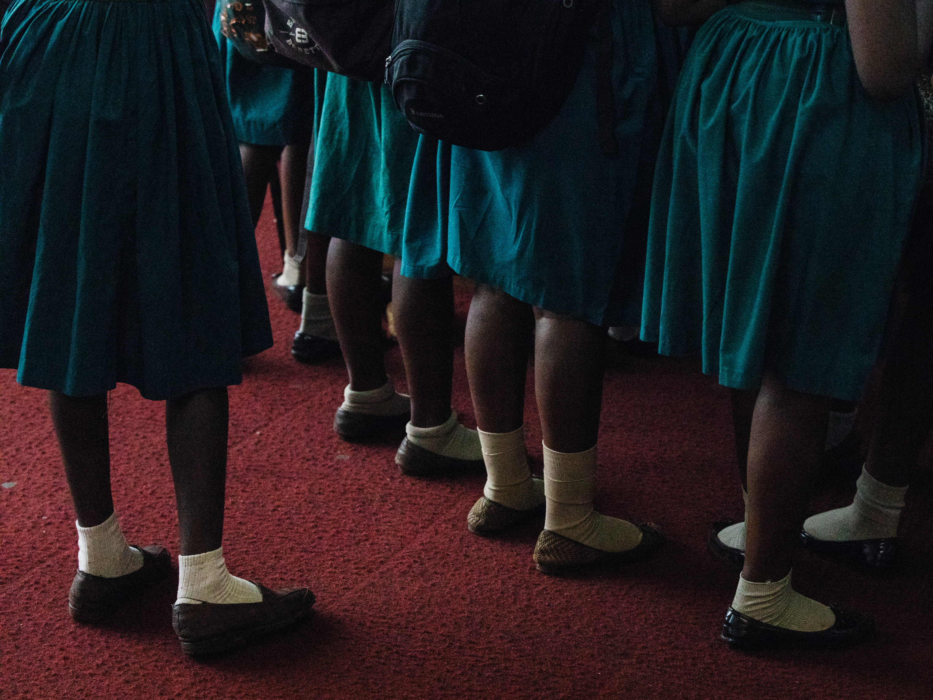 School girls sign up for family planning consultancy at the Miatta Conference Hall