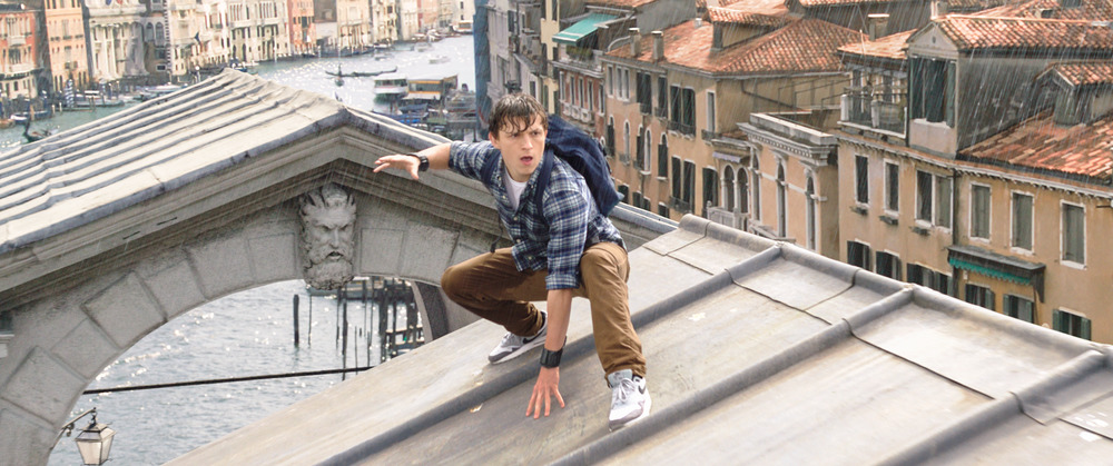 Tom Holland as Peter Parke in Spider-Man: Far From Home