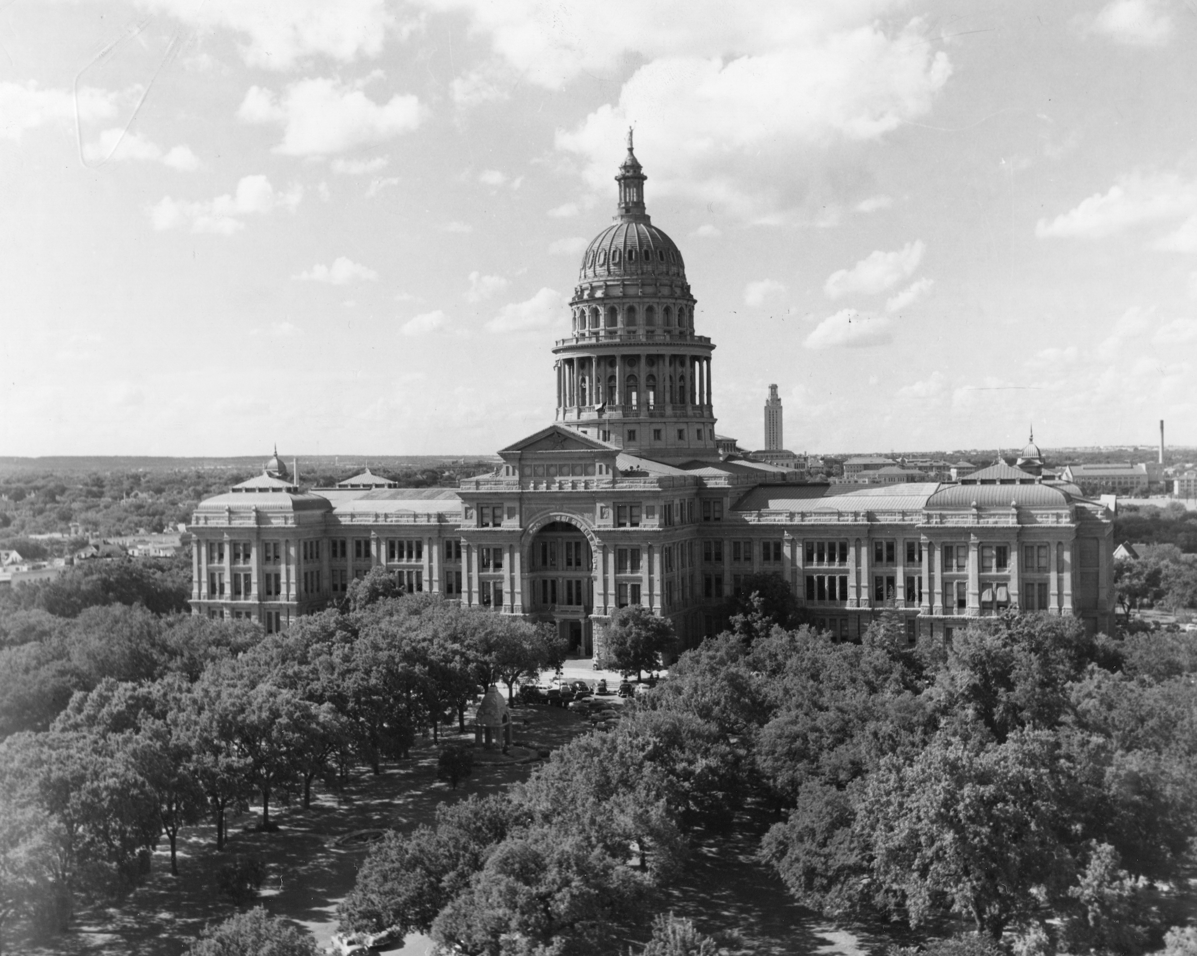 View of the State Capitol Building (completed 1888), Austin, Texas, 1960.