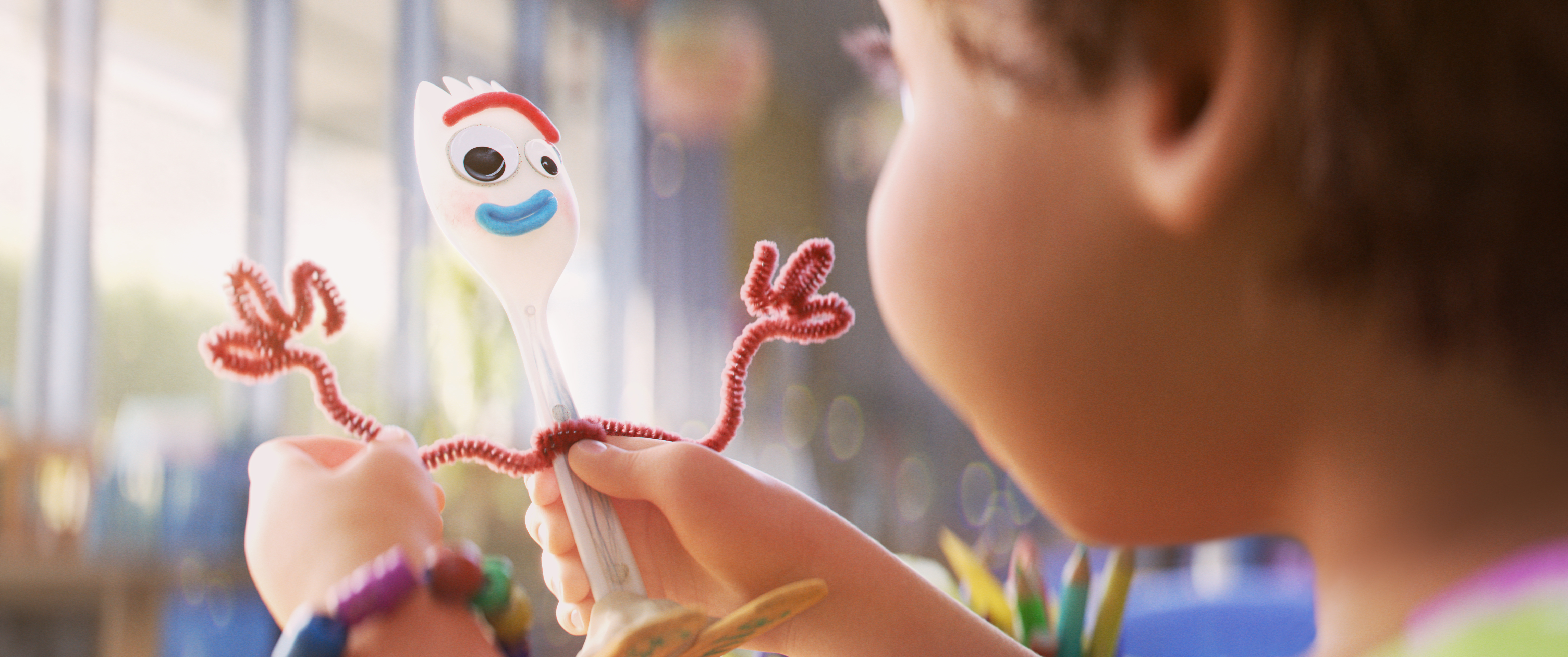 Tony Hale as the voice of Forky in Toy Story 4