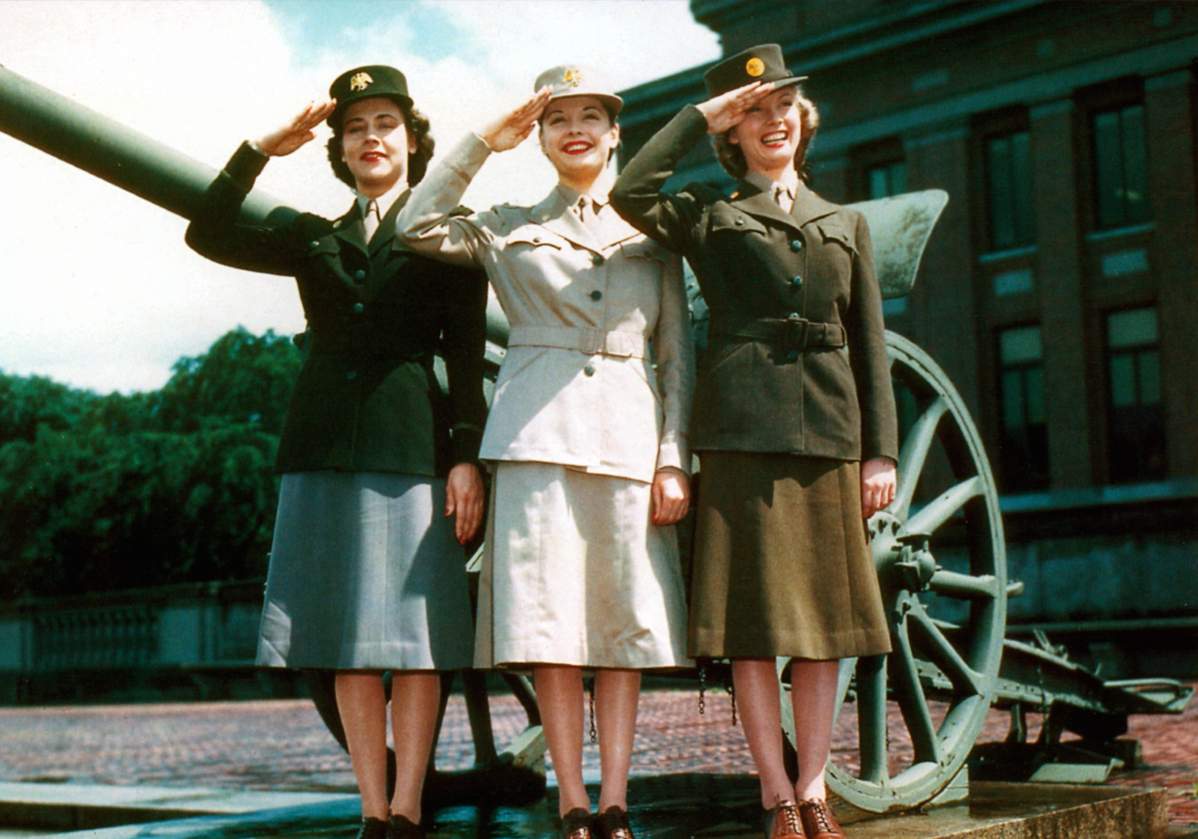 Women's Auxiliary Army Corps (WAAC) uniform presentation in 1942