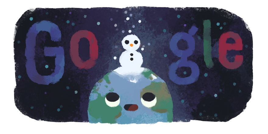 Google Doodle celebrates the start of the winter solstice in the southern hemisphere on Friday, June 21st