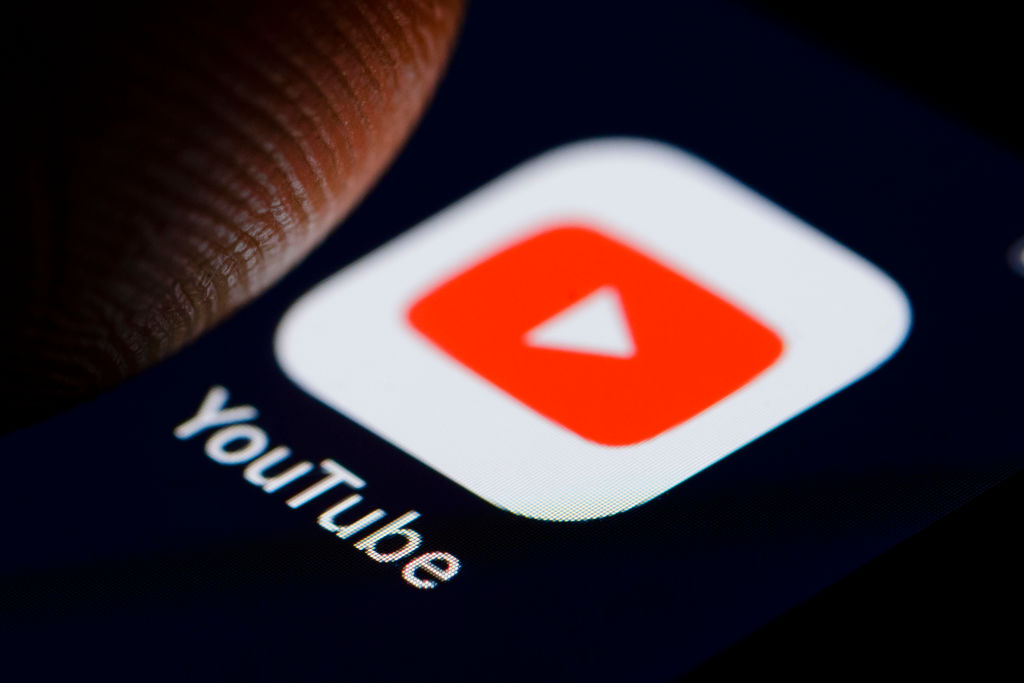 The logo of video-sharing website YouTube is displayed on a smartphone on November 19, 2018 in Berlin, Germany.