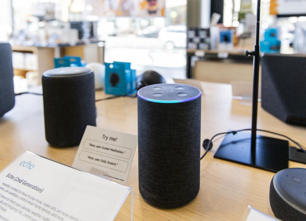 An Amazon.com Inc. Echo smart speaker sits on display inside an Amazon 4-star store in Berkeley, California, U.S., on Friday, March 29, 2019.