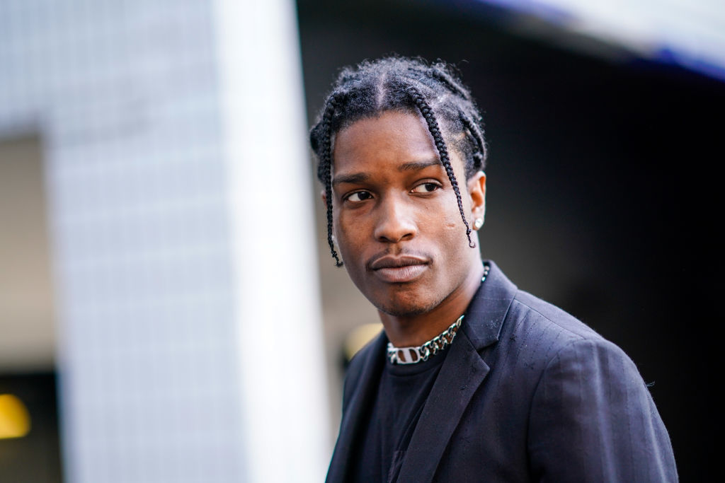 ASAP Rocky is seen, outside during Paris Fashion Week in June 2018.