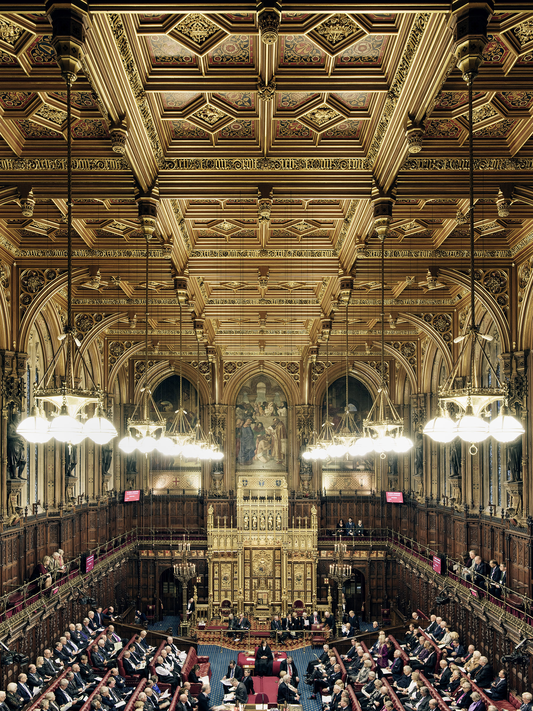 The House of Lords photographed in session at the Palace of Westminster on January 12, 2016.