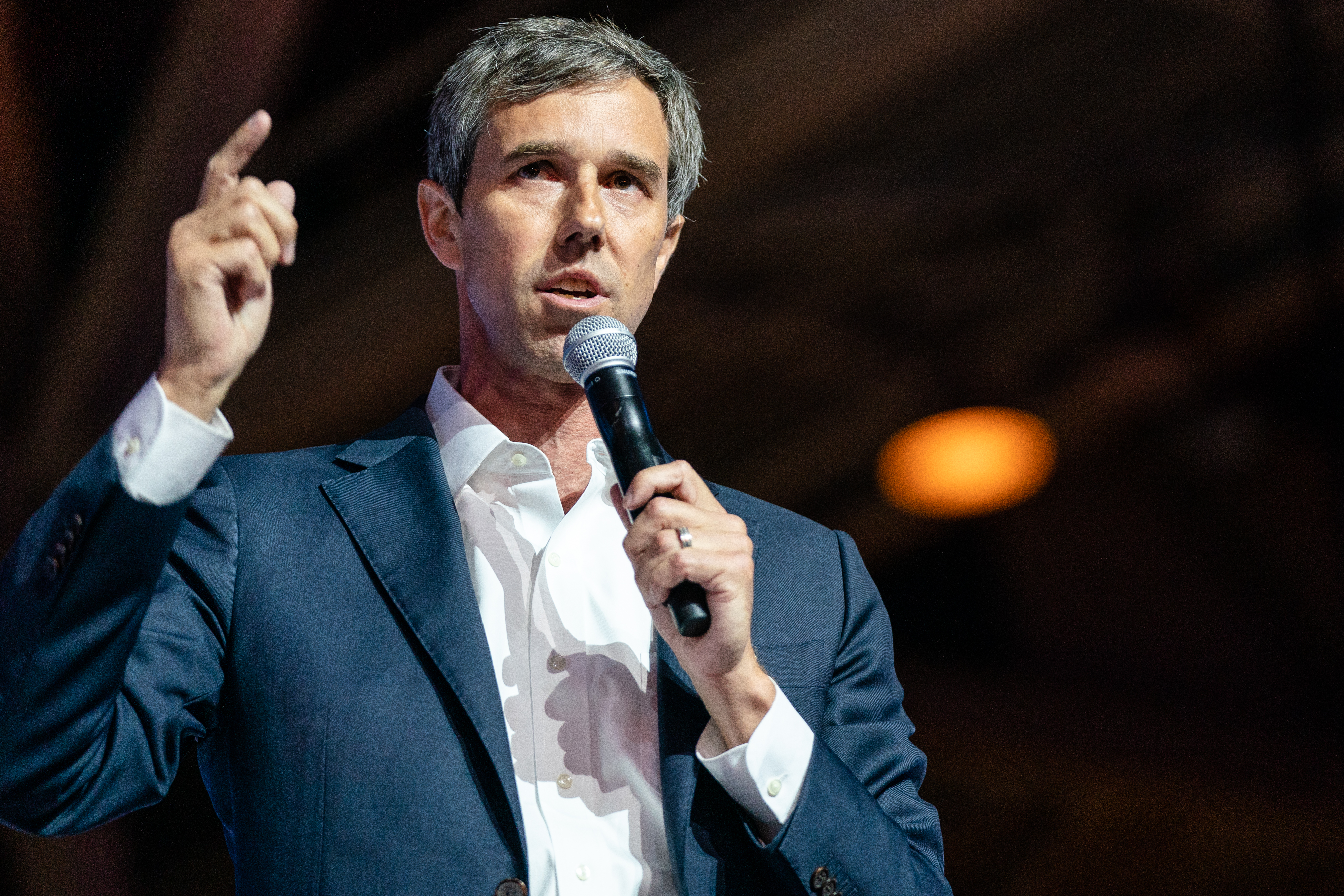 Beto O'Rourke speaks at the 25th Essence Festival at Ernest N. Morial Convention Center on July 06, 2019 in New Orleans, Louisiana.