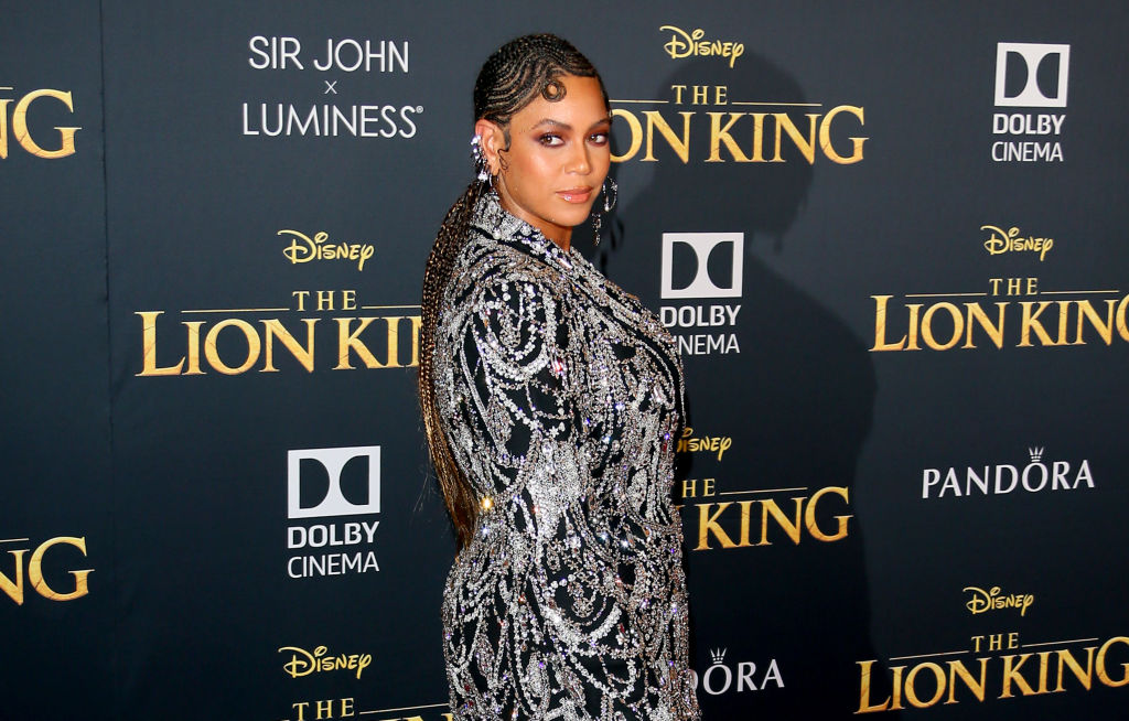 Beyoncé attends the premiere of Disney's  The Lion King  at Dolby Theatre on July 09, 2019 in Hollywood, Calif.