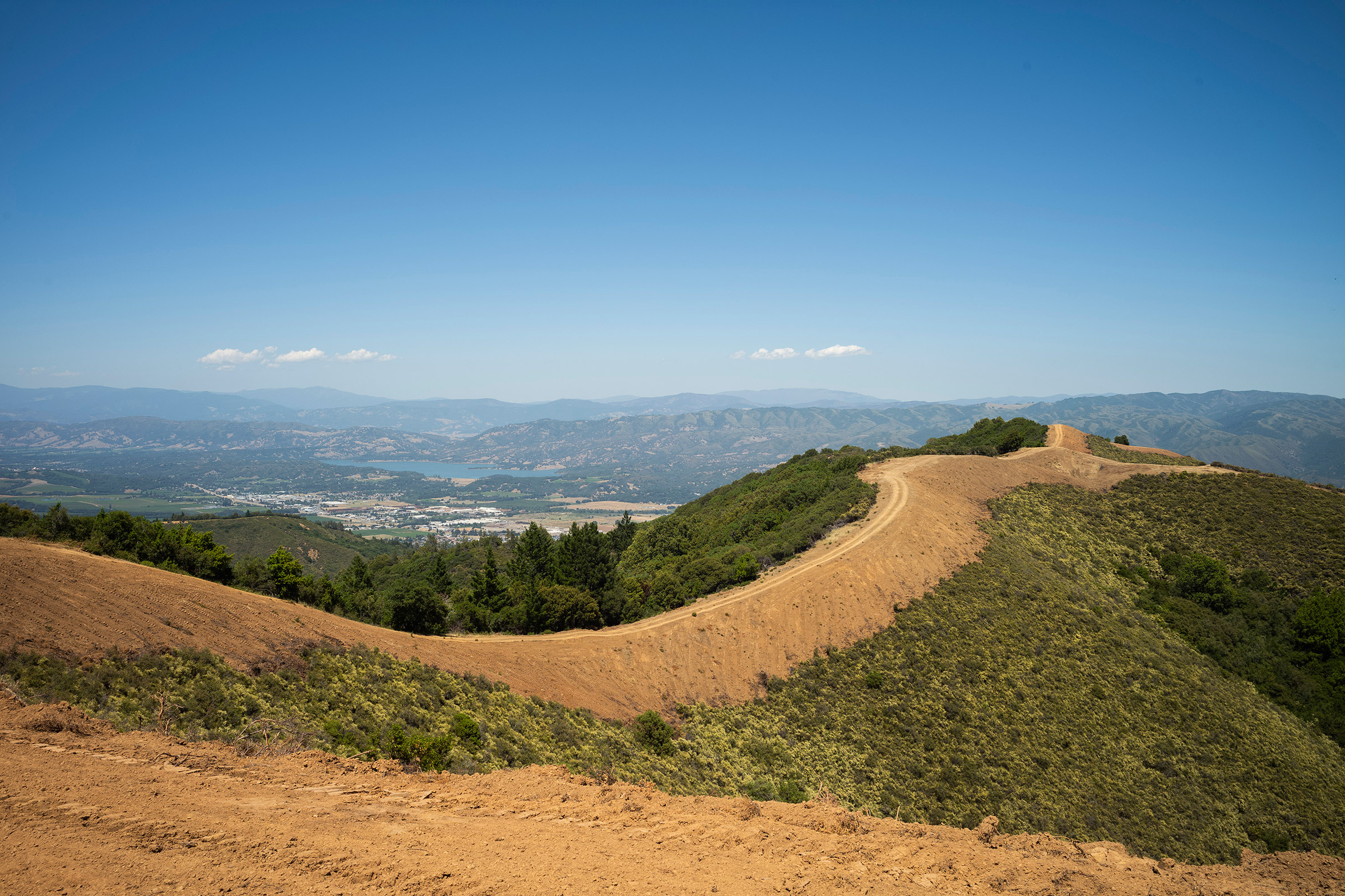 Cal Fire has began cutting large swaths of firebreaks in the hills surrounding Ukiah with bulldozers and inmate firefighter crews, to help defend the city in case of catastrophic wildfire.