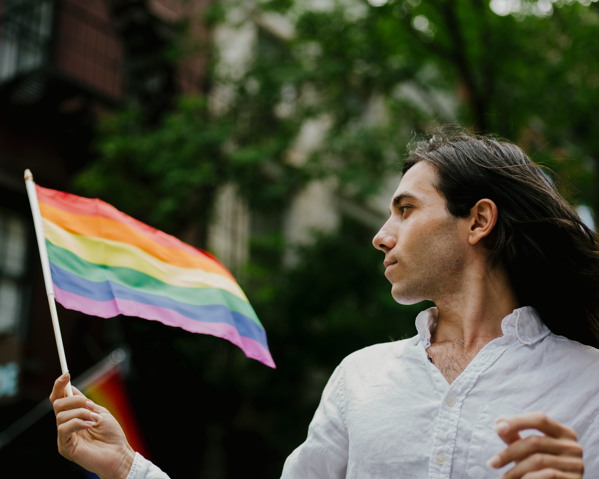 Amin Dzhabrailov in New York during WorldPride, on June 30, 2019.