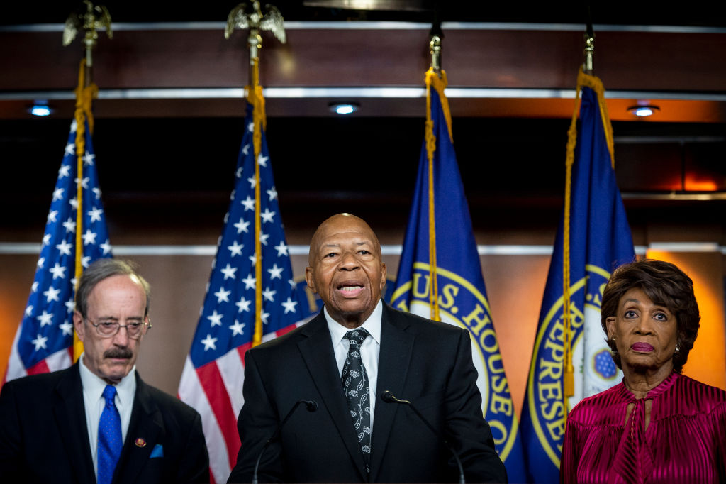 House Oversight and Government Reform Committee Chairman Elijah Cummings, D-Md., speaks during a news conference in the Capitol in Washington on June 11, 2019.
