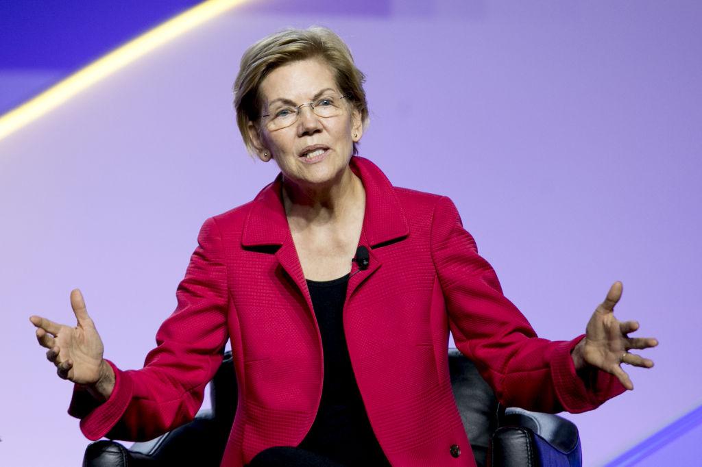 Senator Elizabeth Warren, a Democrat from Massachusetts and 2020 presidential candidate, speaks during a Presidential Candidate Forum at the 110th NAACP Annual Convention in Detroit, Michigan, U.S., on Wednesday, July 24, 2019.
