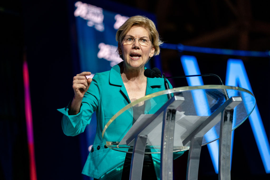 Senator Elizabeth Warren speaks at the 25th Essence Festival at Ernest N. Morial Convention Center on July 06, 2019 in New Orleans, Louisiana.