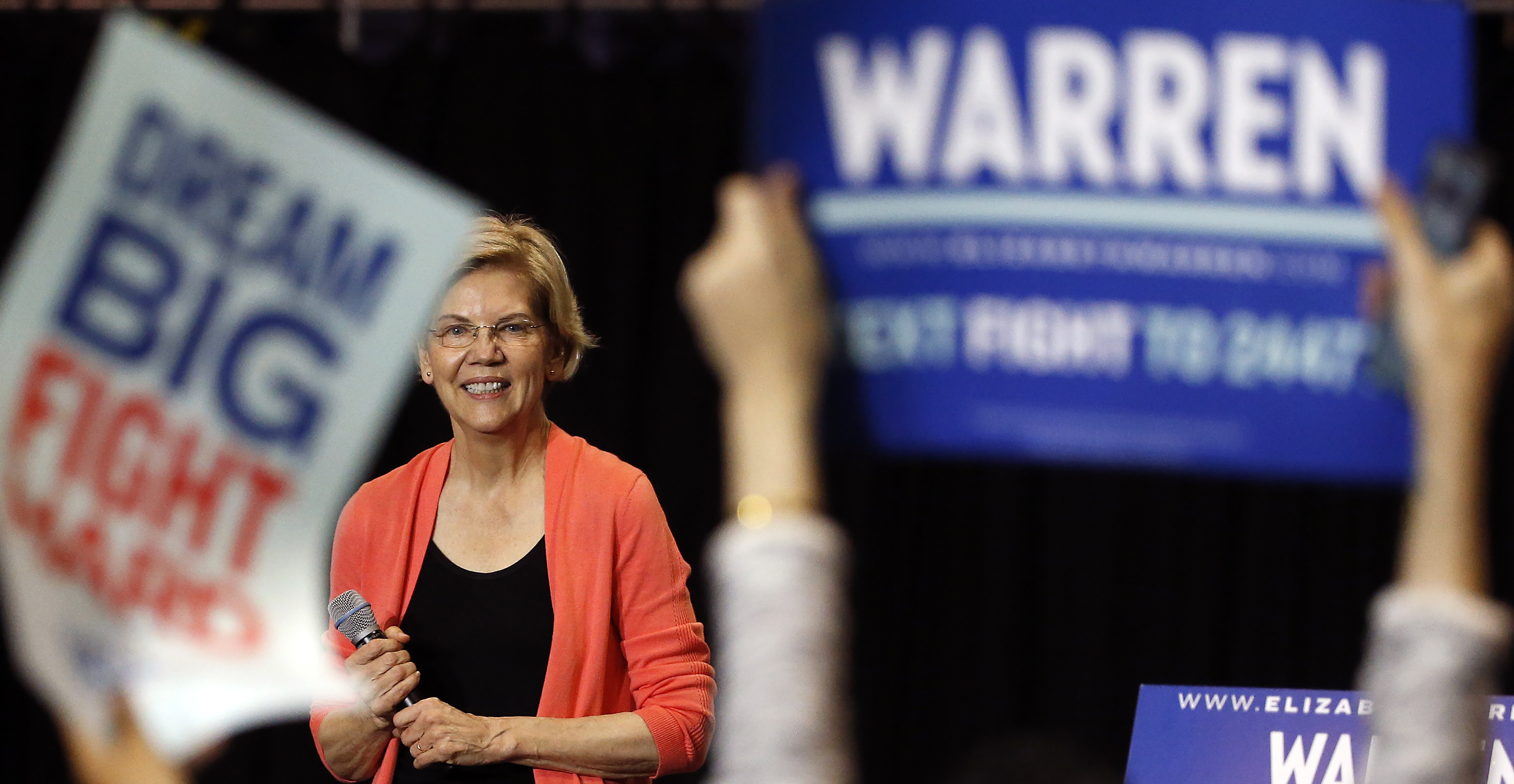 Democratic Presidential hopeful Elizabeth Warren speaks during a town hall meeting at Florida International University in Miami, Florida on June 25, 2019.