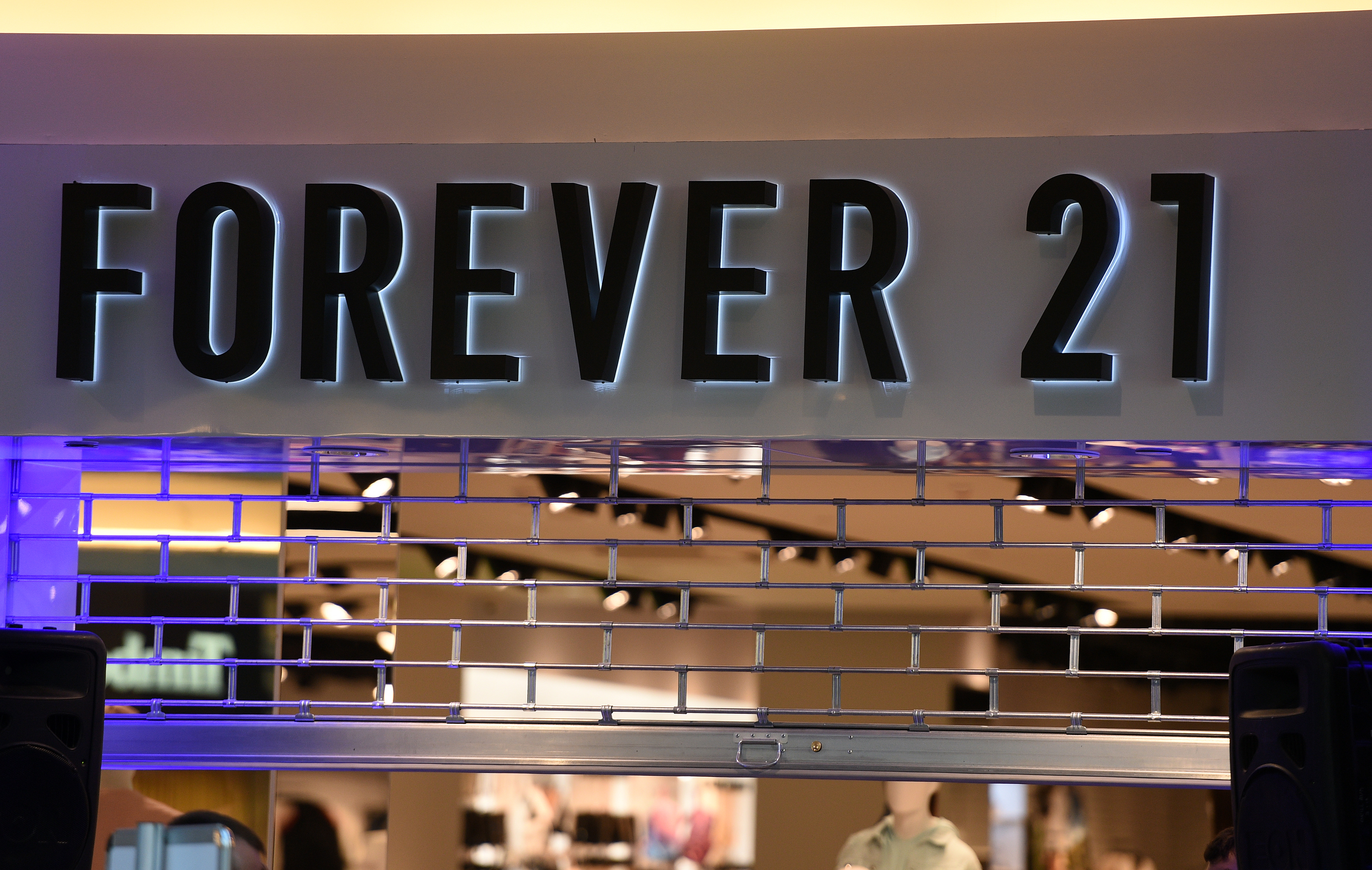 Forever 21 shop logo during the opening of the Forever 21 shop at Zlote Tarasy in Warsaw, Poland on March 25, 2017.