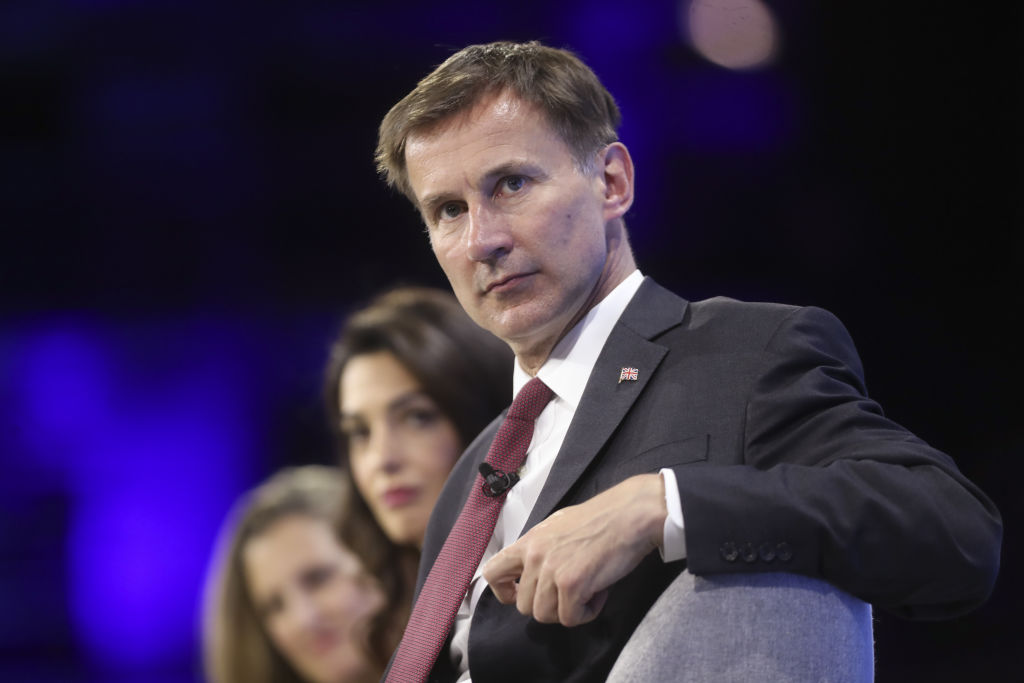 Jeremy Hunt, U.K. foreign secretary, pauses during the Media Freedom conference, co-hosted by the U.K. and Canadian Foreign Offices, in London, U.K., on Wednesday, July 10, 2019.