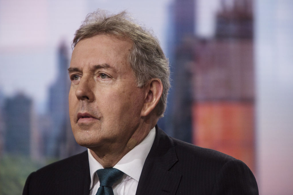 Kim Darroch, U.K. ambassador to the U.S., listens during a Bloomberg Television interview in New York, U.S., on Friday, May 18, 2018.