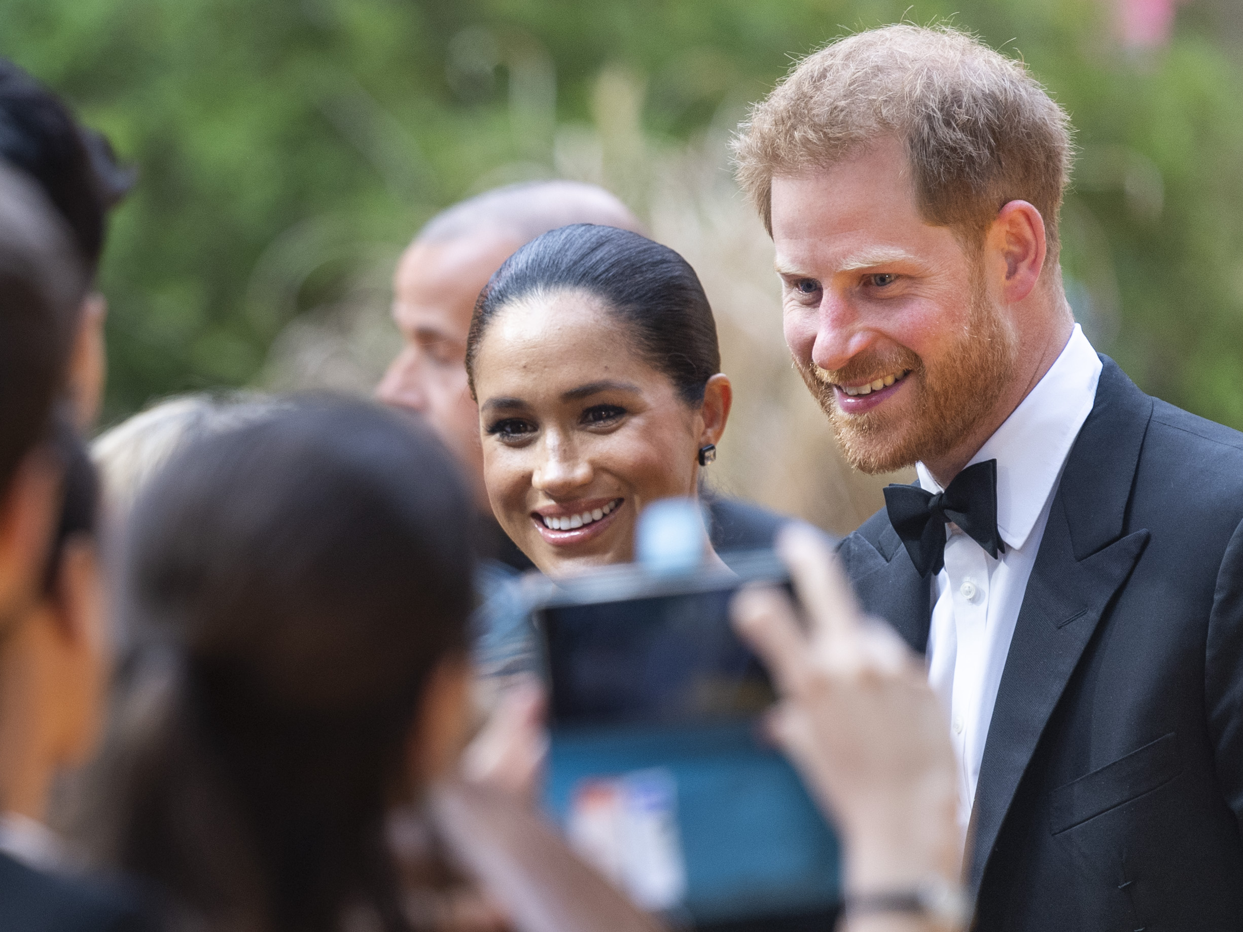 Prince Harry, Duke of Sussex and Meghan, Duchess of Sussex attend  The Lion King  European Premiere on July 14, 2019 in London, England.