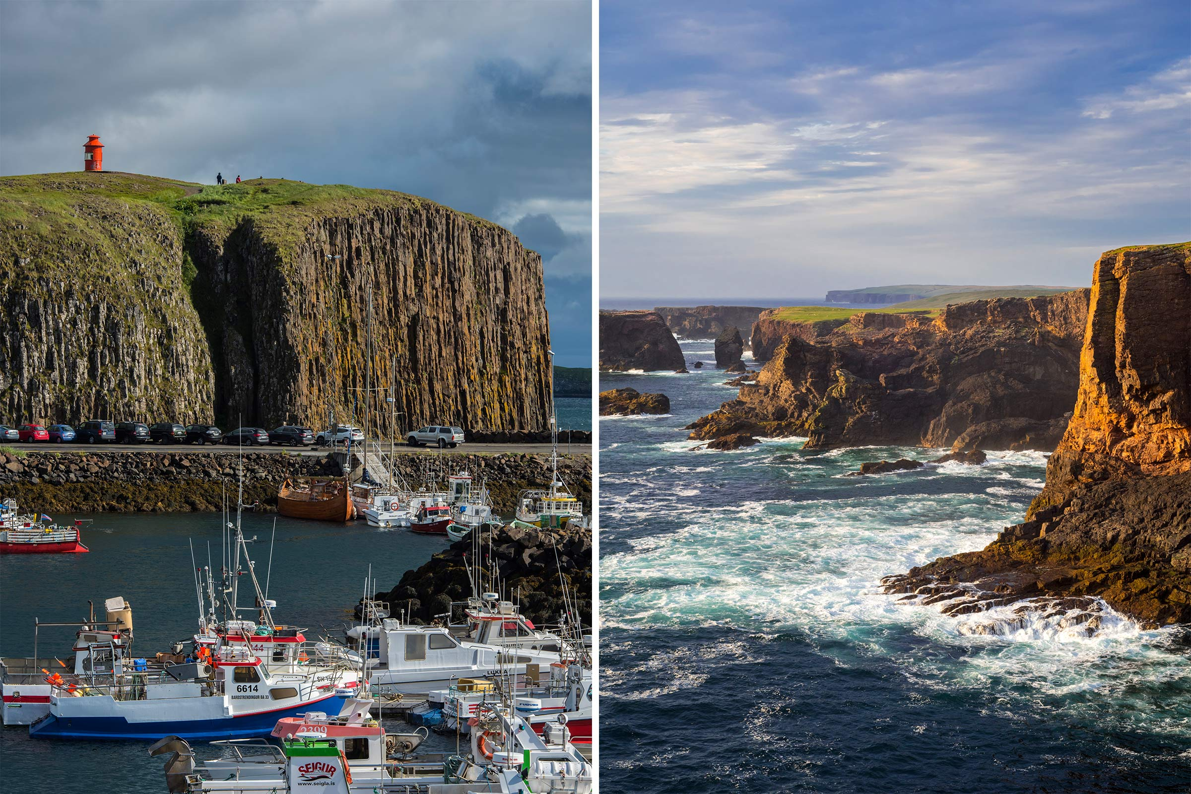 Stykkishólmur, Iceland; Shetland Islands, Scotland