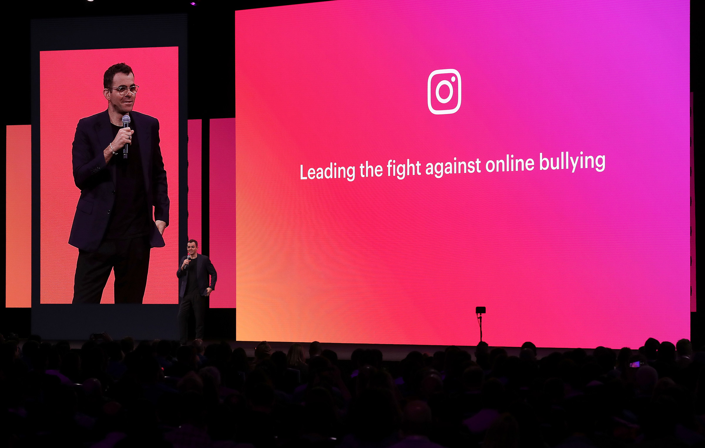 Instagram product head Adam Mosseri speaks during the F8 Facebook Developers conference in San Jose, Calif. on April 30, 2019.