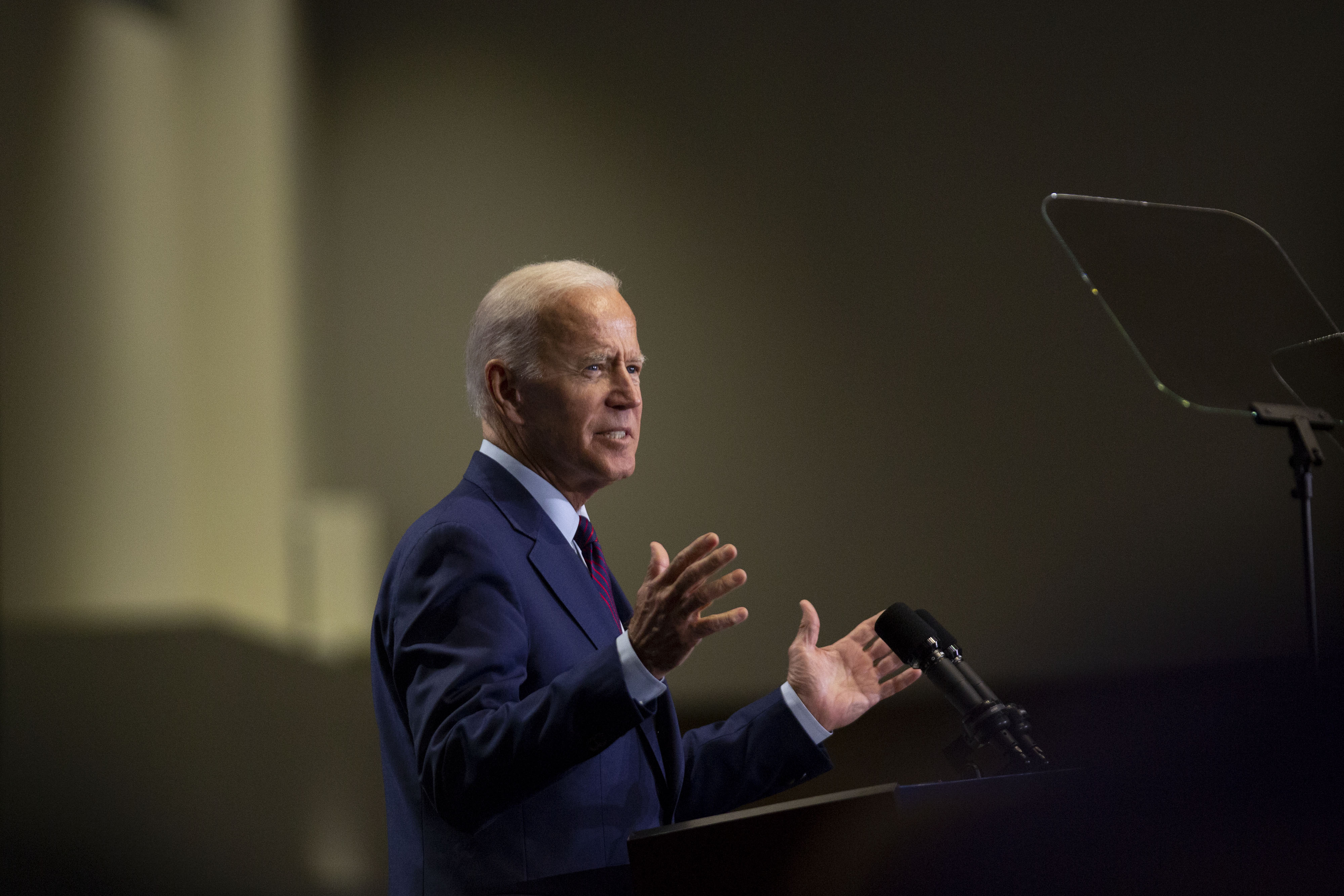 Former U.S. Vice President Joe Biden, a 2020 Democratic presidential candidate, speaks during the Rainbow PUSH Coalition Annual International Convention in Chicago, Illinois, U.S., on Friday, June 28, 2019.