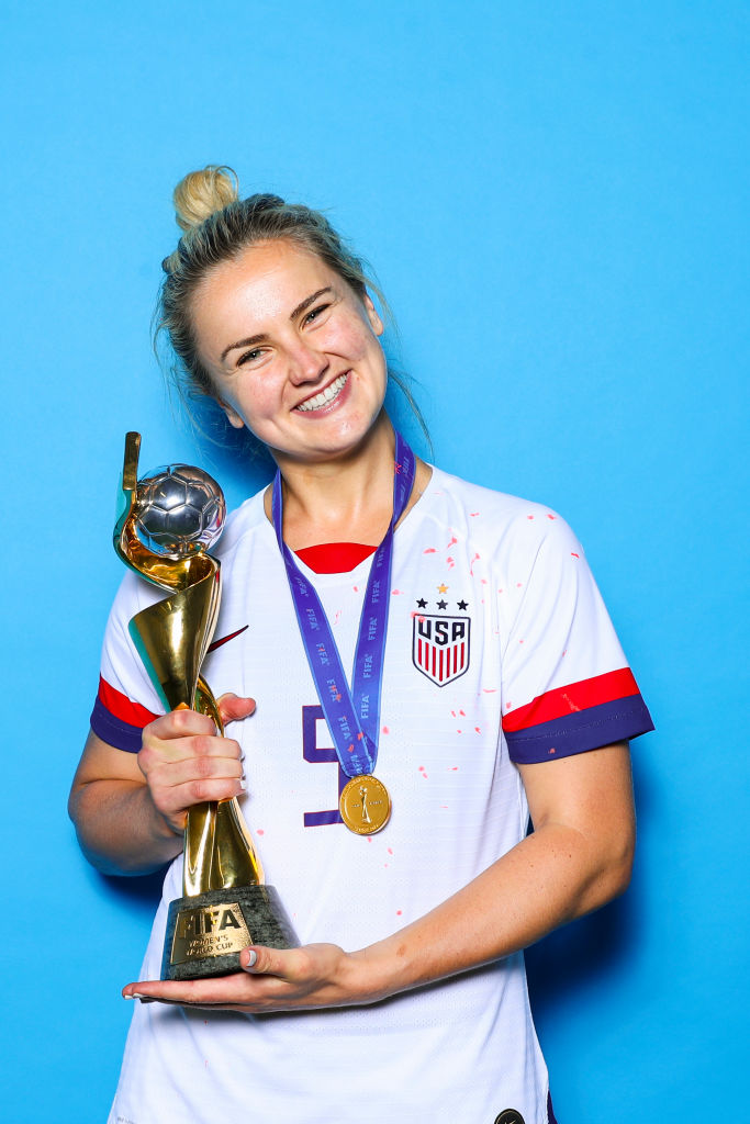 Lindsey Horan during the 2019 FIFA Women's World Cup France Final match on July 07, 2019 in Lyon, France.