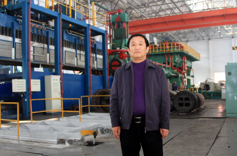 Liu Zhongtian, chair and president of Zhongwang Group, poses at a factory in Liaoyang city, China on Nov. 5 2009.
