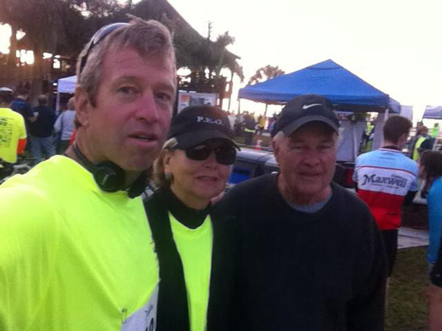 Mary Knowlton with her son Steve (left) and husband Gary (right).