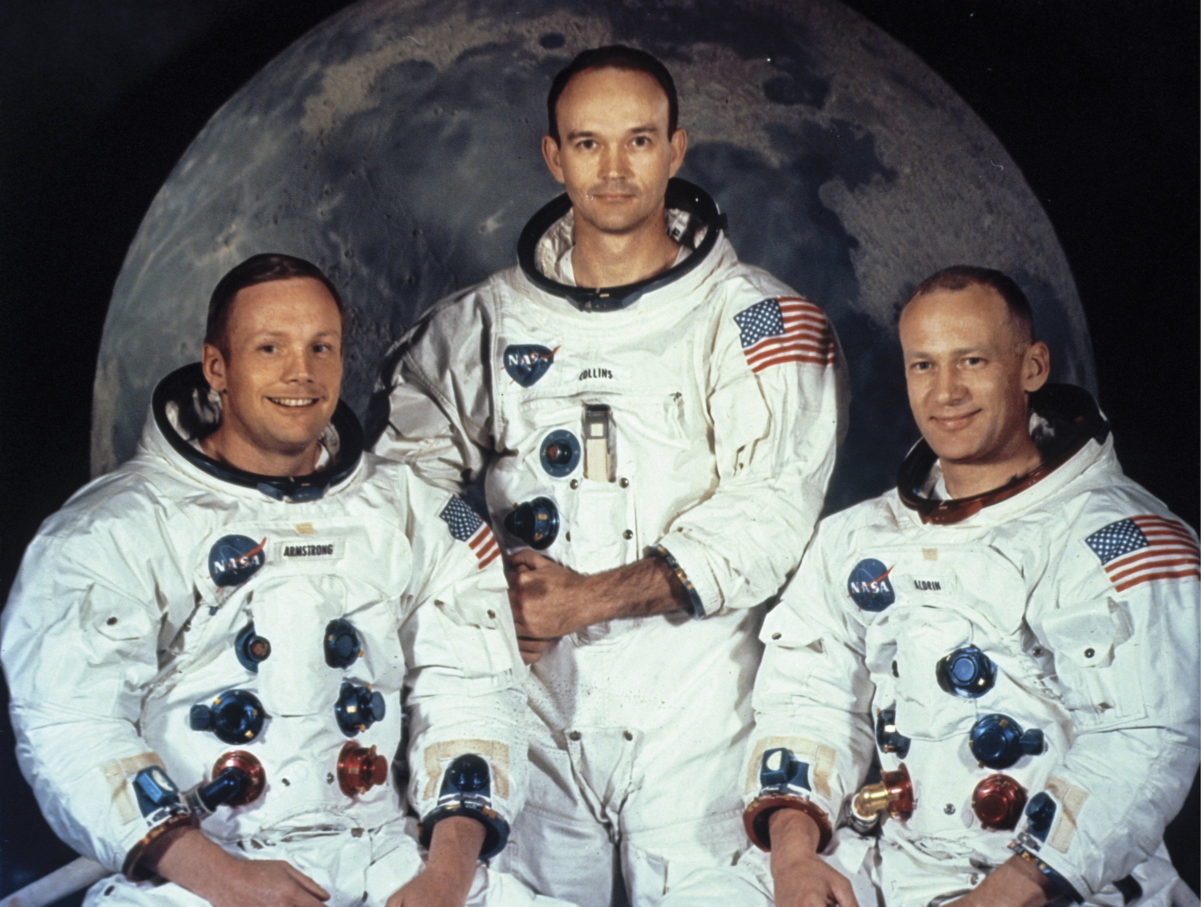 Apollo 11 astronauts Neil Armstrong, Michael Collins and Buzz Aldrin