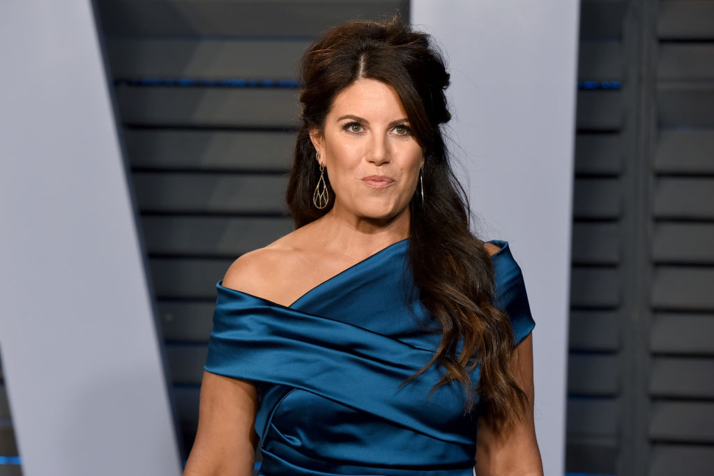 Monica Lewinsky attends the 2018 Vanity Fair Oscar Party at the Wallis Annenberg Center for the Performing Arts on March 4, 2018 in Beverly Hills, California.