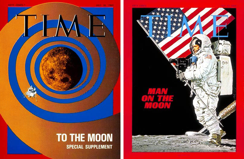 The July 18 and July 25, 1969, covers of TIME