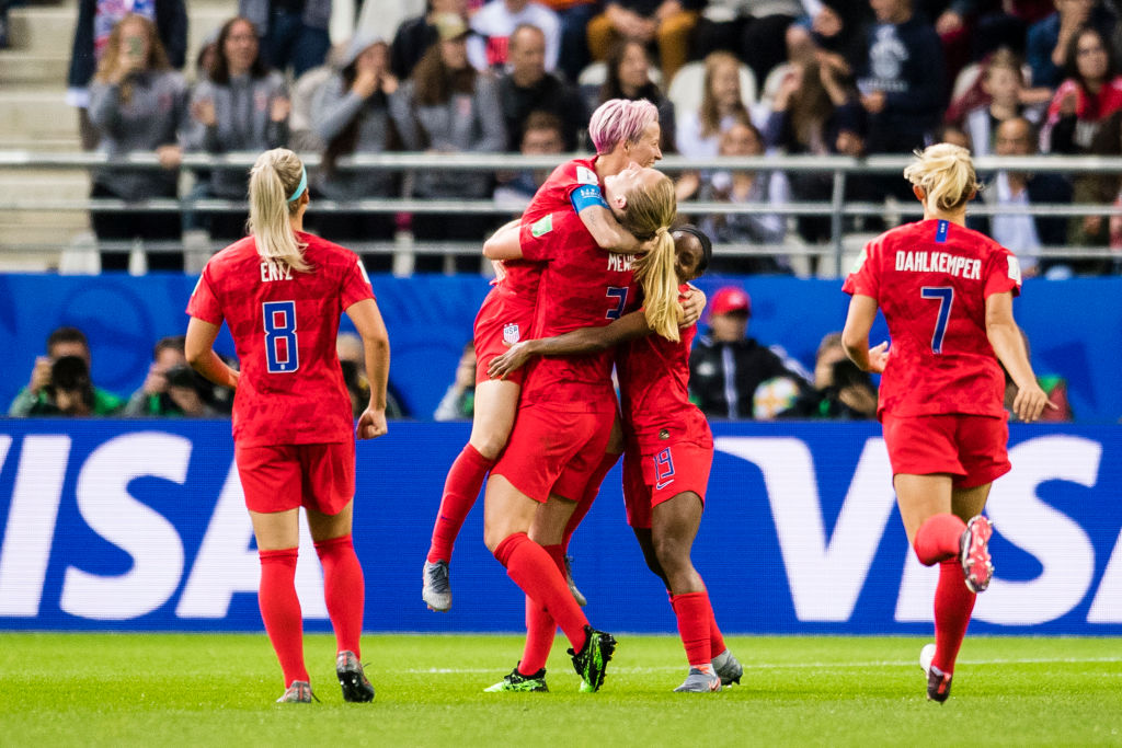 The 2019 FIFA Women's World Cup France group F match between USA and Thailand at Stade Auguste Delaune on June 11, 2019 in Reims, France.