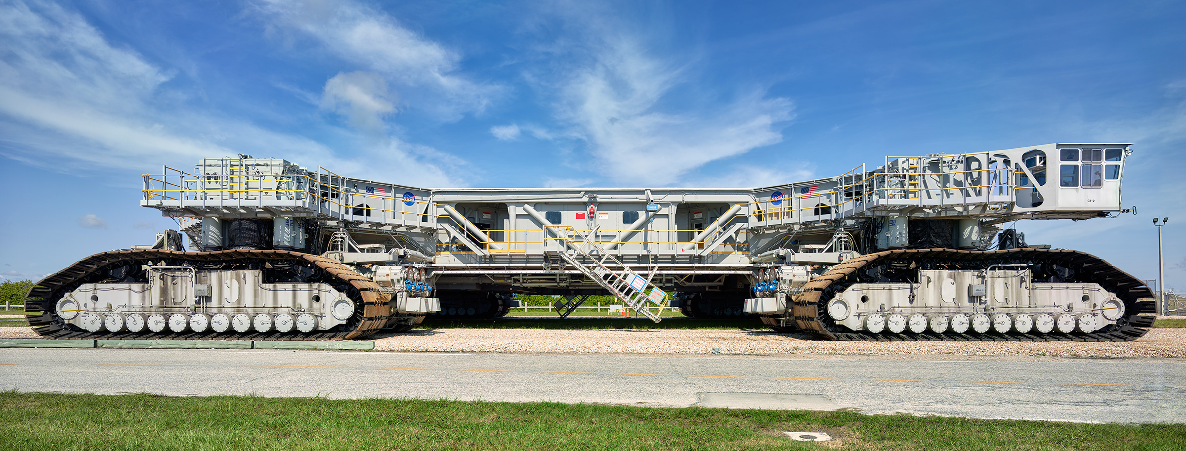 The vehicle NASA will use to transport its mobile launcher from the assembly facility to the launchpad