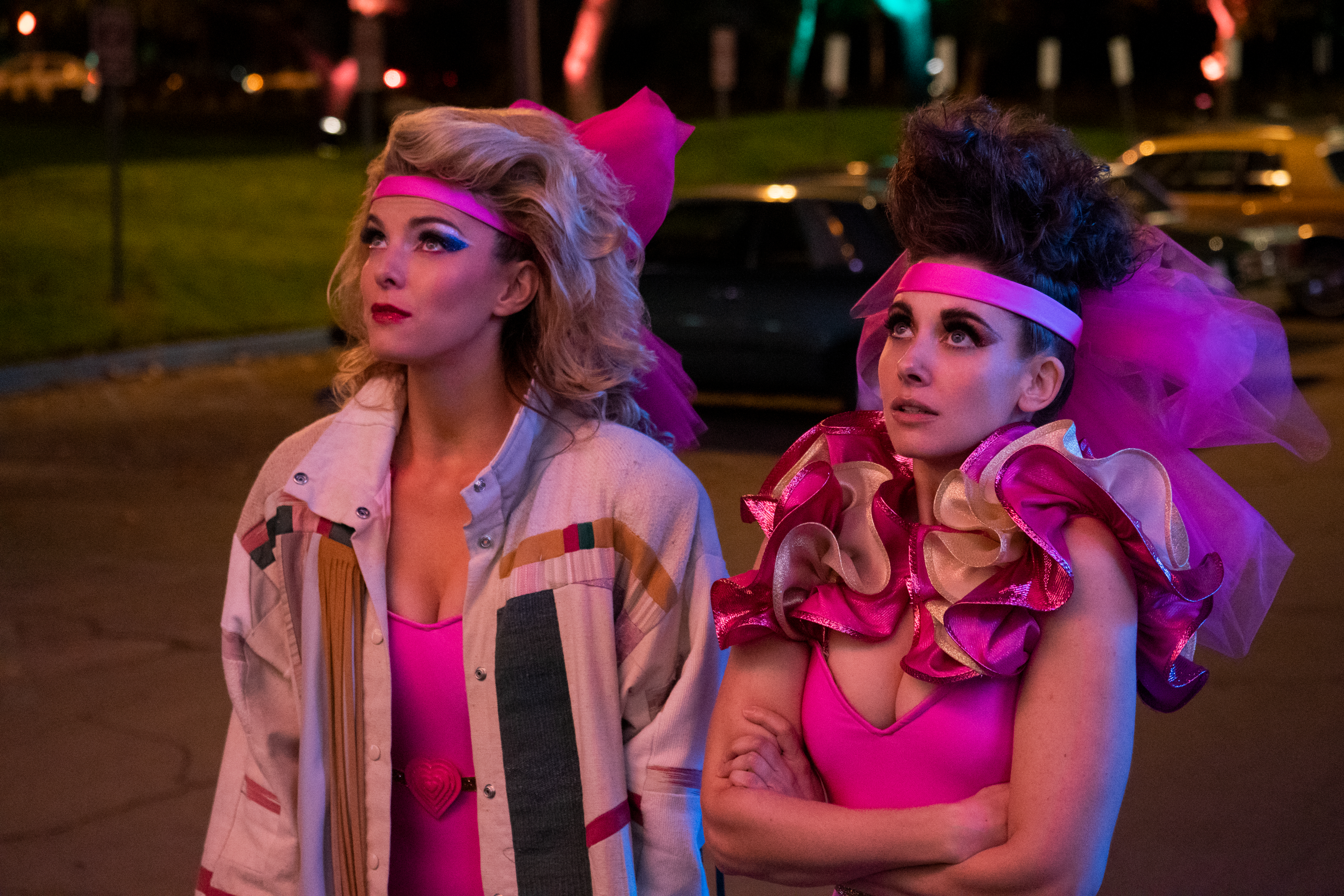 Betty Gilpin (left) and Alison Brie in 'GLOW.'