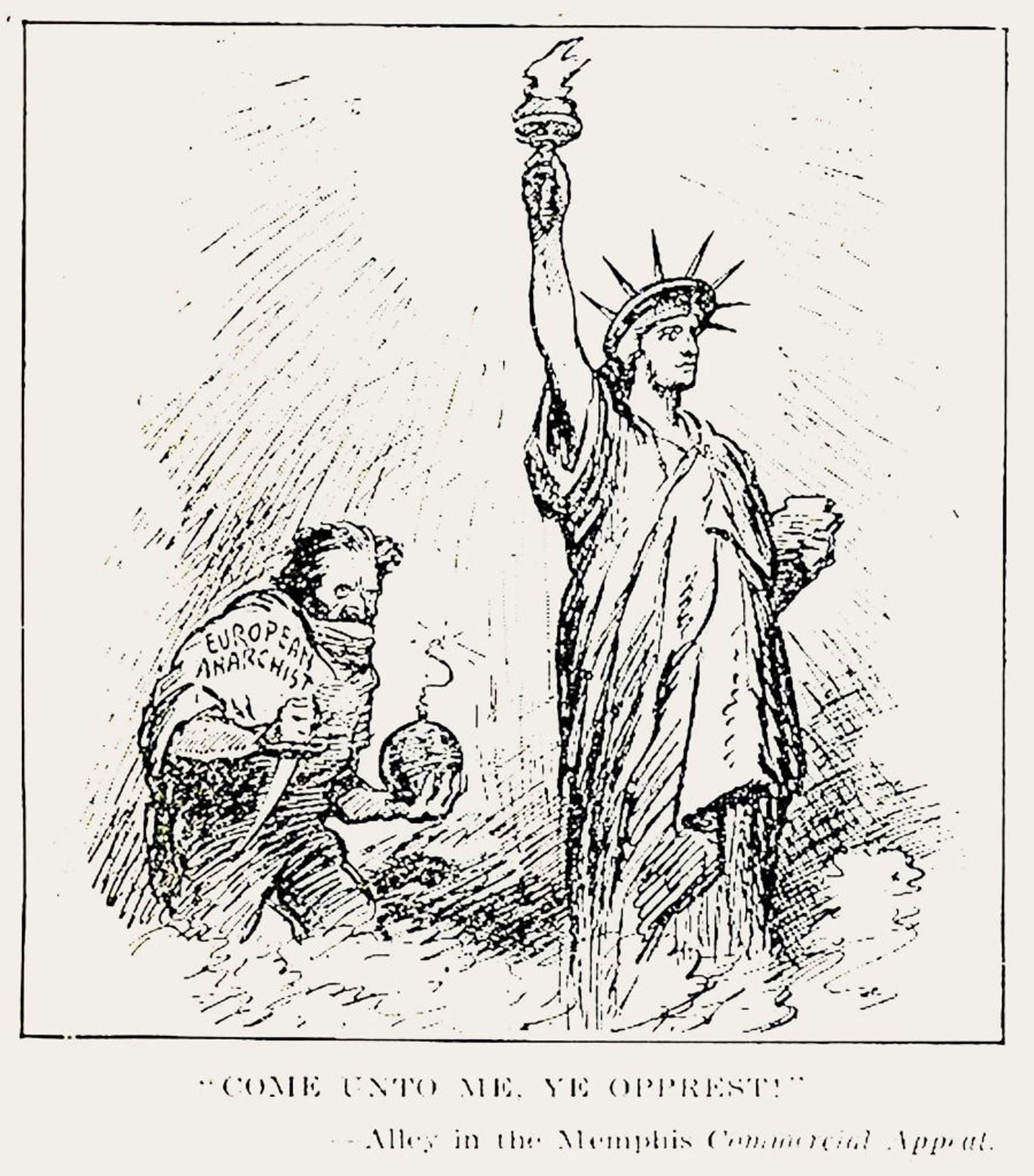 An anti-Bolshevik political cartoon published in the July 5, 1919, Literary Digest.