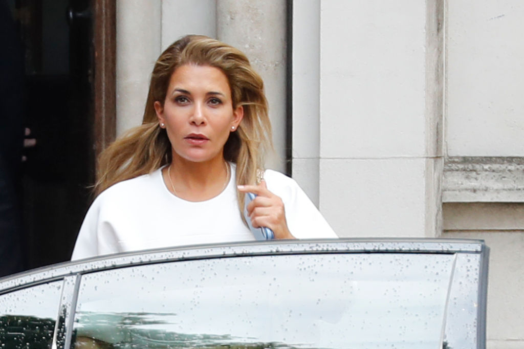 Princess Haya Bint al-Hussein of Jordan leaves the High Court in London on July 30, 2019.