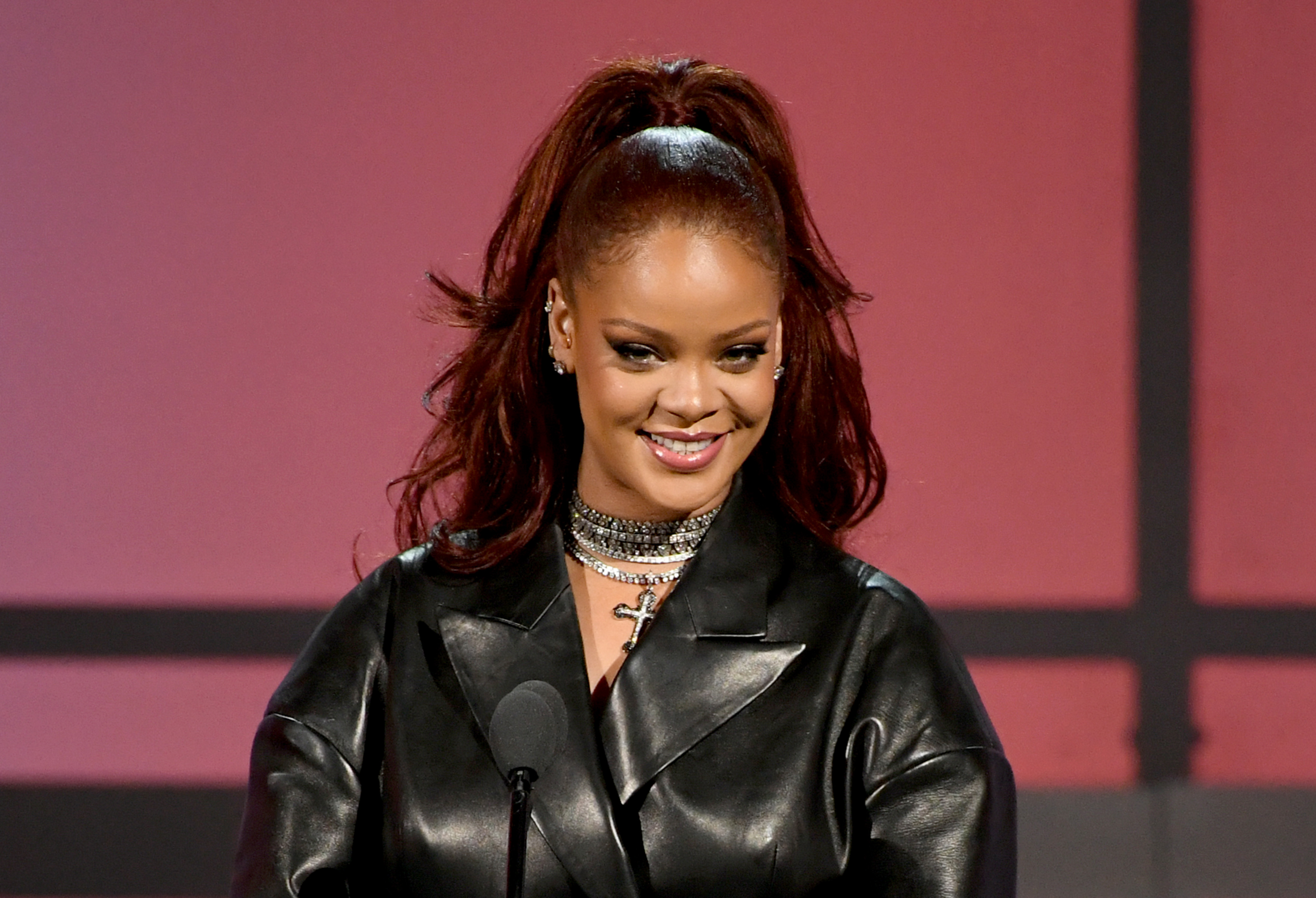 Rihanna speaks onstage at the 2019 BET Awards in Los Angeles, California on June 23, 2019.