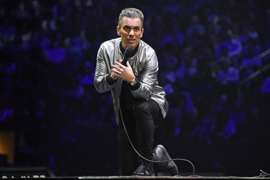 Sebastian Maniscalco performs onstage during the Sebastian Maniscalco 'Stay Hungry' Tour 2018 at Madison Square Garden on January 19, 2019 in New York City.
