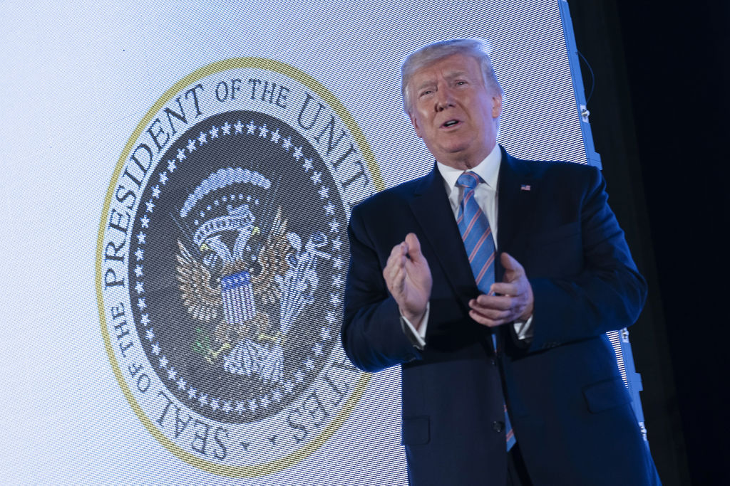 President Donald Trump speaks during a Turning Point USA conference in Washington, D.C., on July 23, 2019.