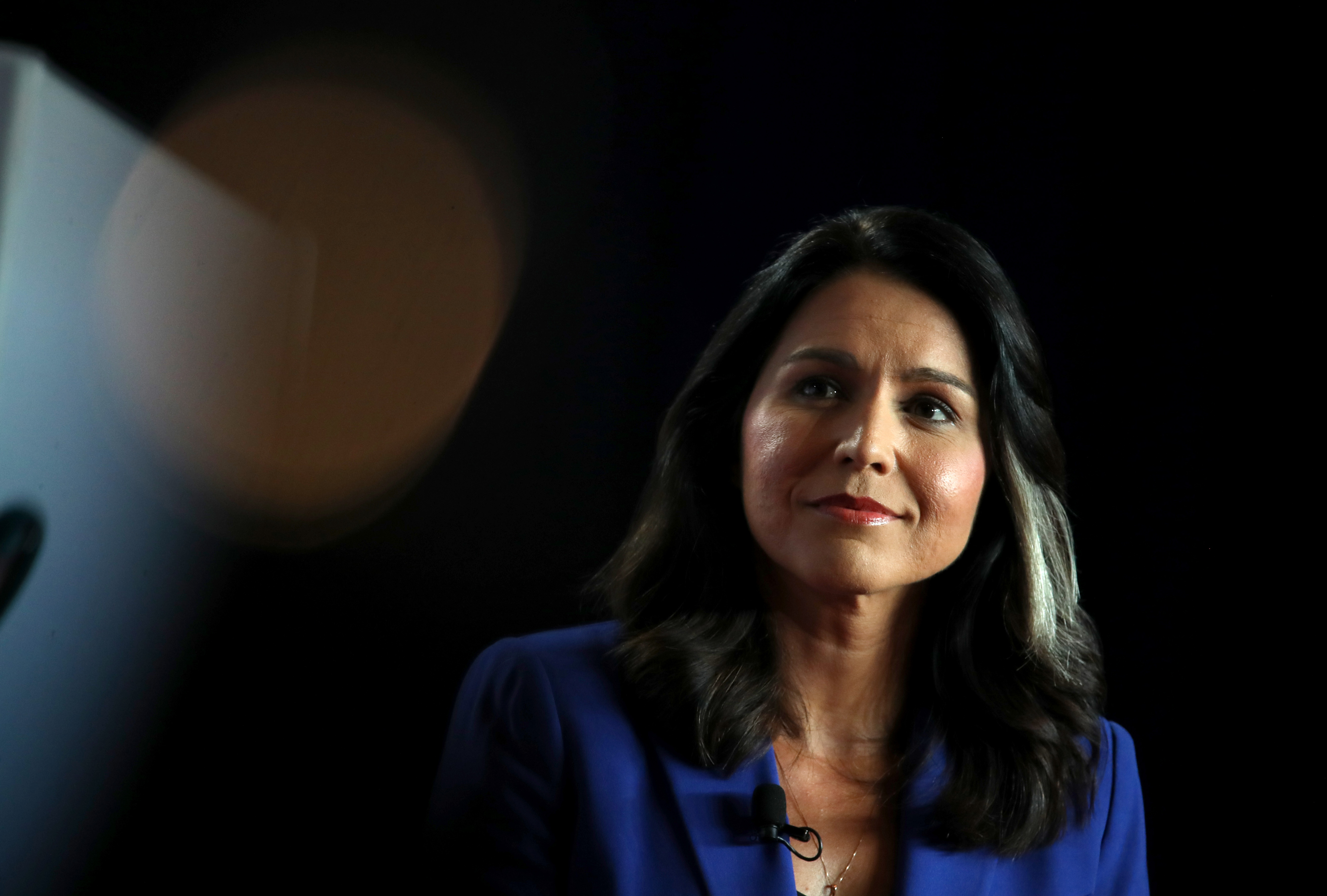 Democratic presidential candidate U.S. Rep. Tulsi Gabbard (D-HI) speaks during the AARP and The Des Moines Register Iowa Presidential Candidate Forum on July 17, 2019 in Cedar Rapids, Iowa.
