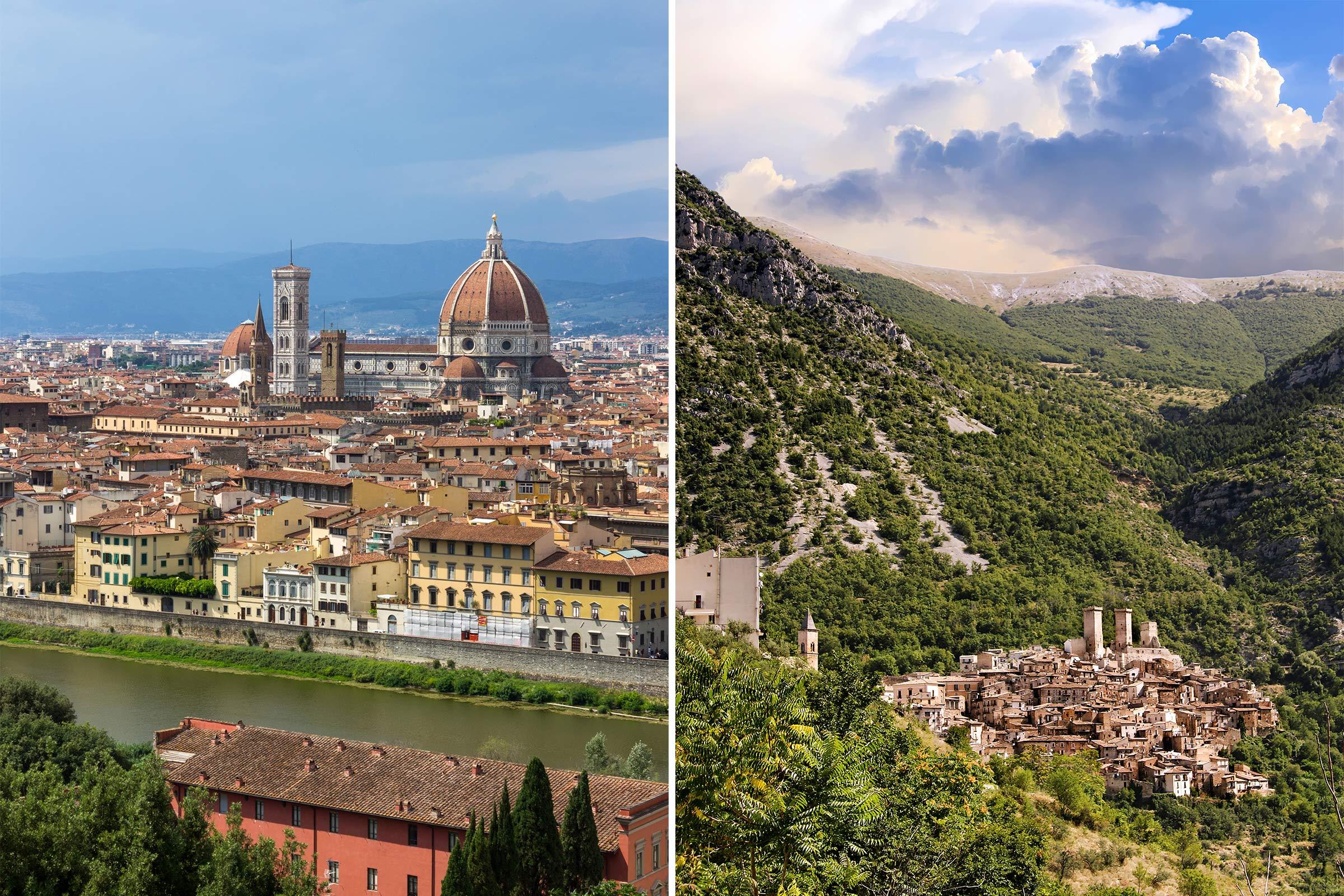 Tuscany, Italy; Abruzzo, Italy
