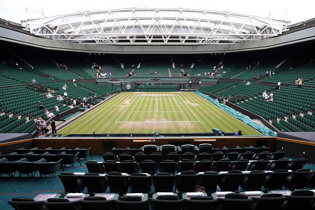 The Royal Box overlooking Centre Court is pictured ahead of the Ladies Singles Final between Serena Williams of the U.S.A and Garbine Muguruza of Spain on day 12 of the Wimbledon Lawn Tennis Championships at the All England Lawn Tennis and Croquet Club on July 11, 2015 in London, England.