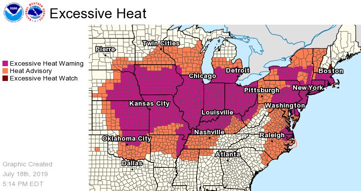 "Up to 195 million Americans are set to swelter through a ""dangerous and widespread"" heat wave that will bake two thirds of the continental United States this weekend."