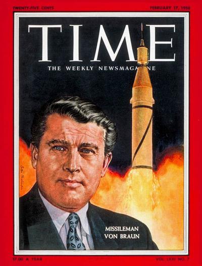 Wernher von Braun TIME cover.
