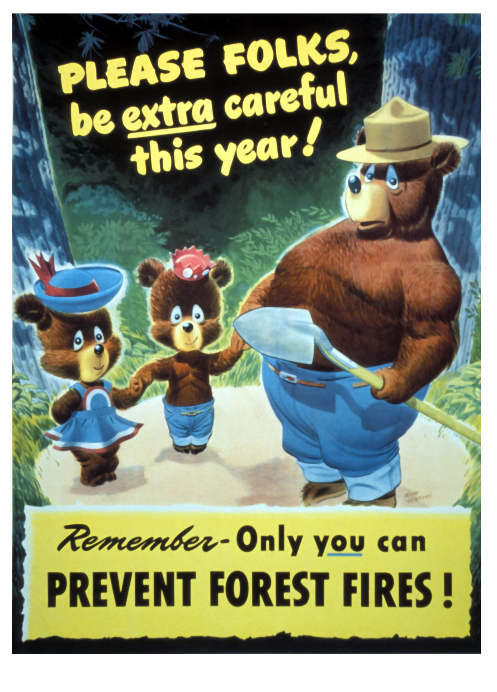 Vintage Smokey Bear Posters Show Evolving Approach To Fires Time