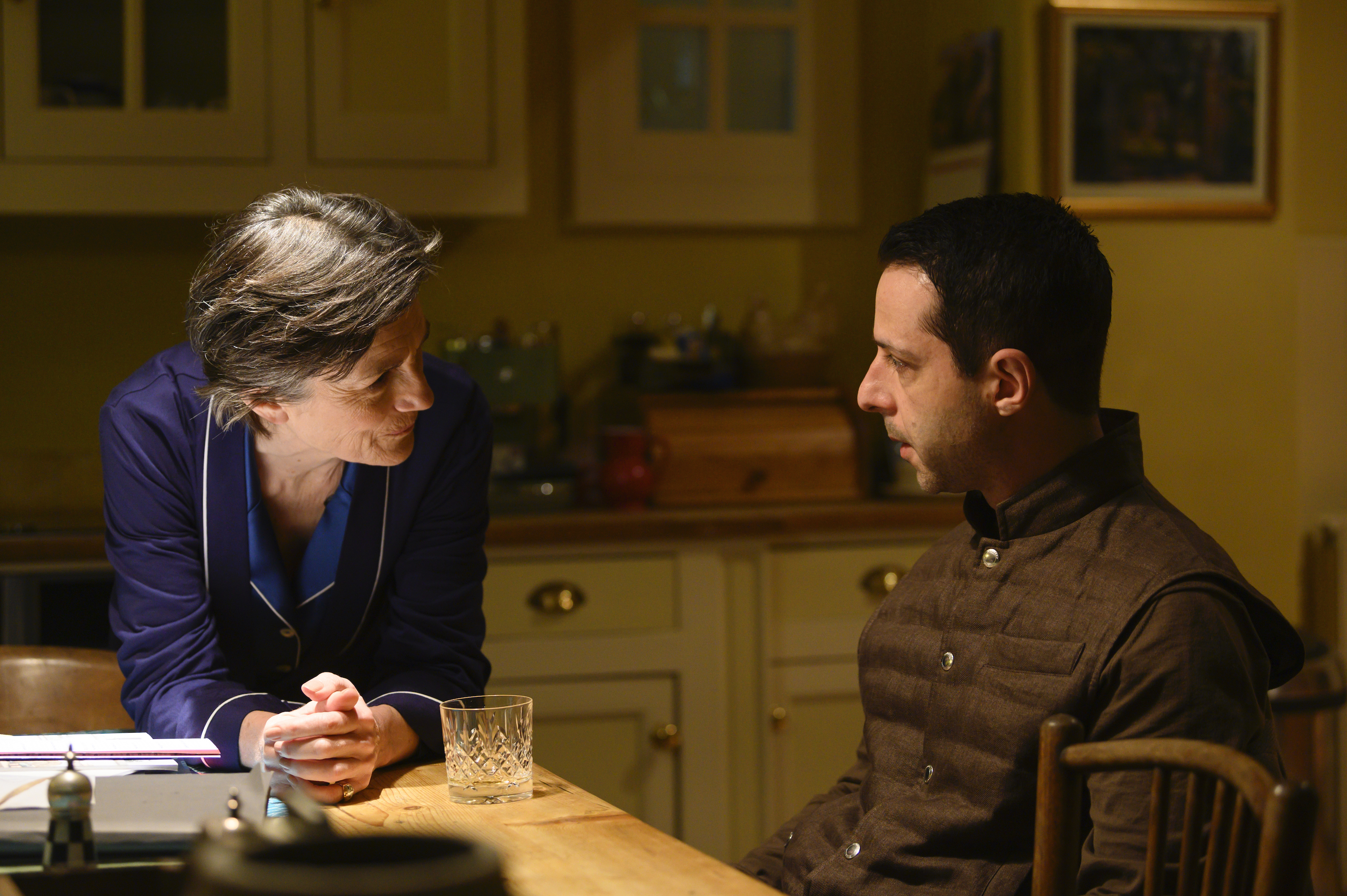 Harriet Walter and Jeremy Strong