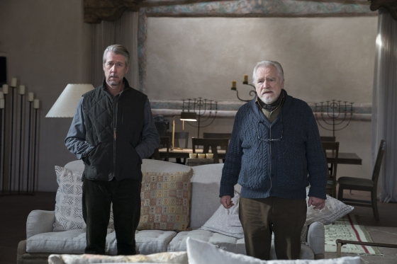 Alan Ruck as Connor Roy and Brian Cox as Logan Roy.