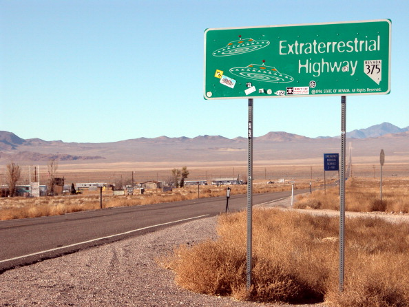 Rachel, Nev., on the Extraterrestrial Highway, home of numerous UFO sightings and near Area 51.