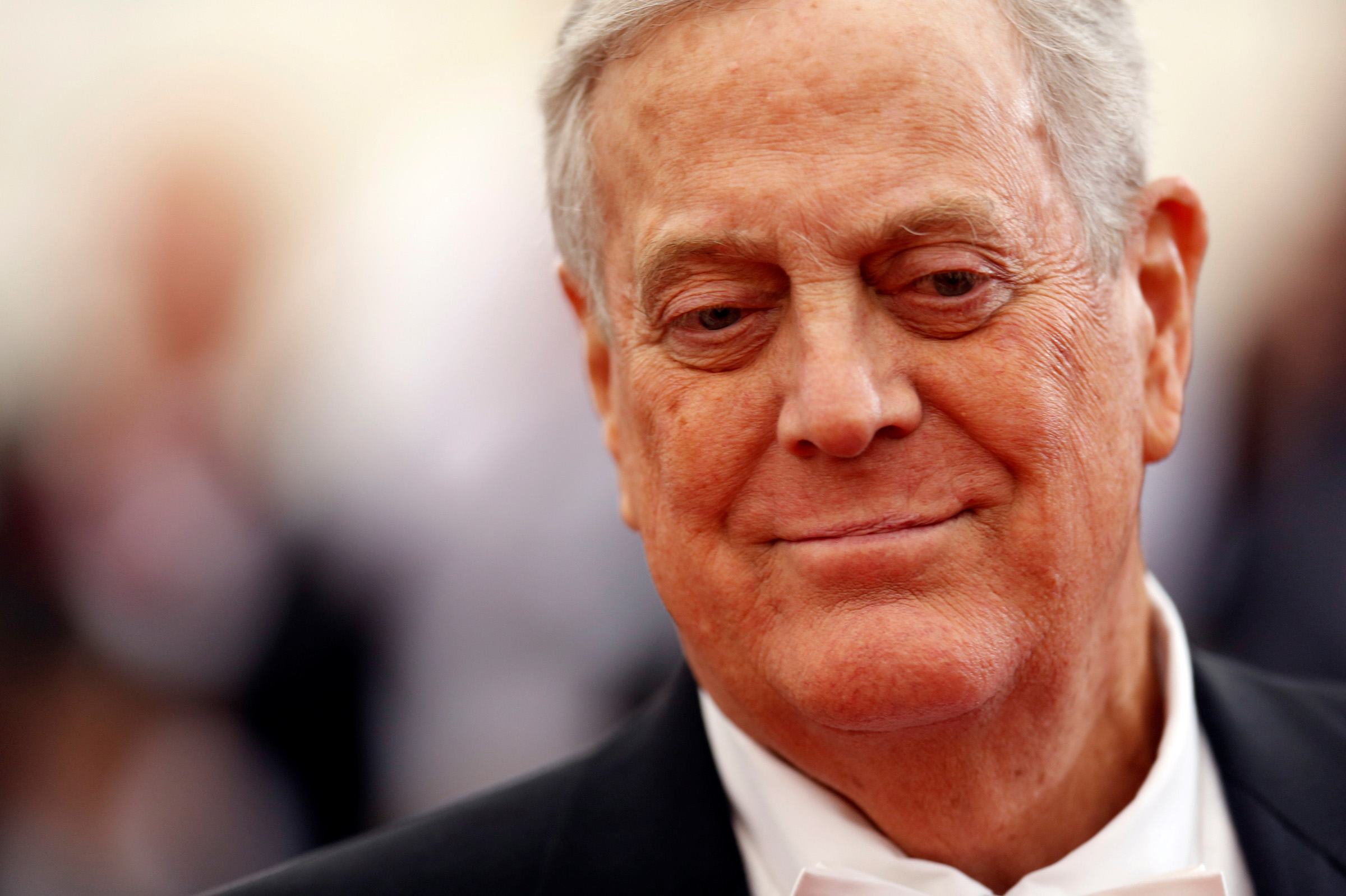 Businessman David Koch arrives at the Metropolitan Museum of Art Costume Institute Gala Benefit in New York on May 5, 2014.
